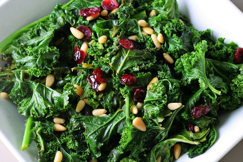 Kale Salad with Apples and Cranberries Recipe