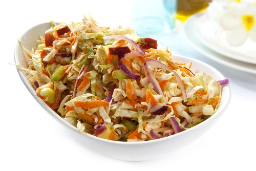 Savory Slaw with Cranberries & Bacon Recipe
