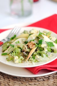 Tangy Pear Salad With Blue Cheese Dressing Recipe