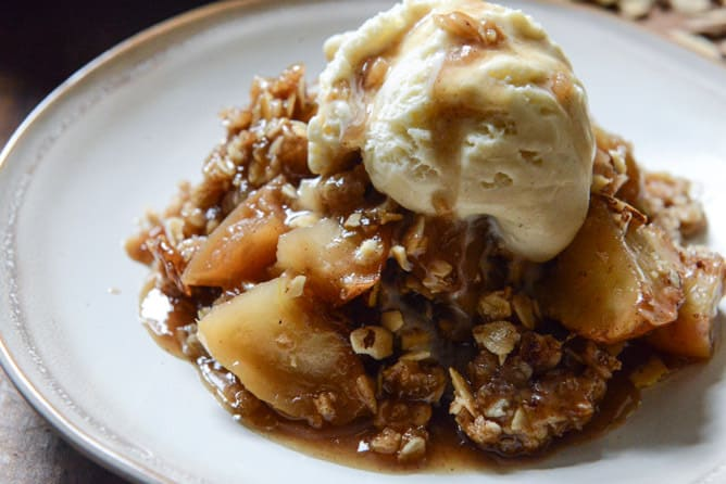 Apple Crisp, caramel apple crisp recipe