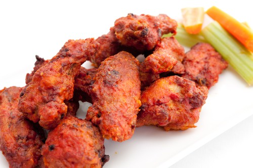 Baked Buffalo Wings with JImmy's Blue Cheese Dressing Recipe