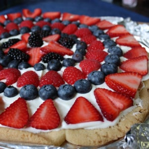 Red, White & Blue Fruit Pizza Recipe