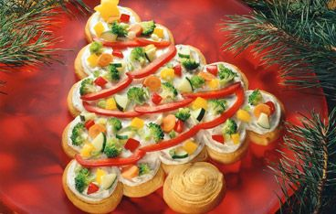 Holiday Veggie Pizza