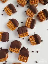 Chocolate Caramel Pretzel Ice Cream Bites