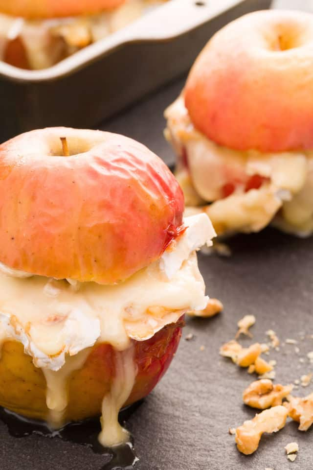 Baked Apples with Brie & Caramel Recipe