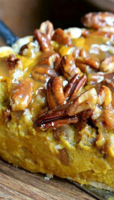Pecan Caramel Pumpkin Pie recipe