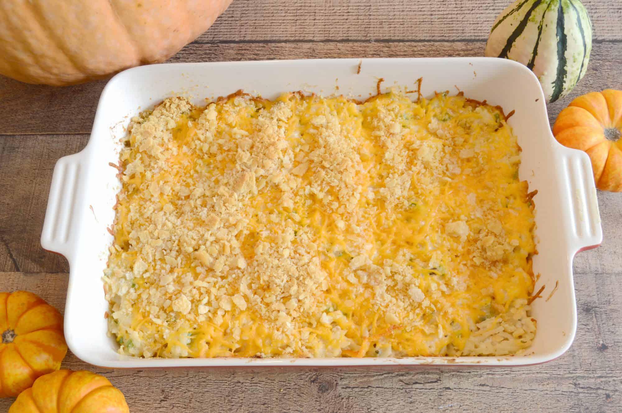 Cheesy Potatoes with a smokey twist using Jimmy's Holy Smoke! Dip