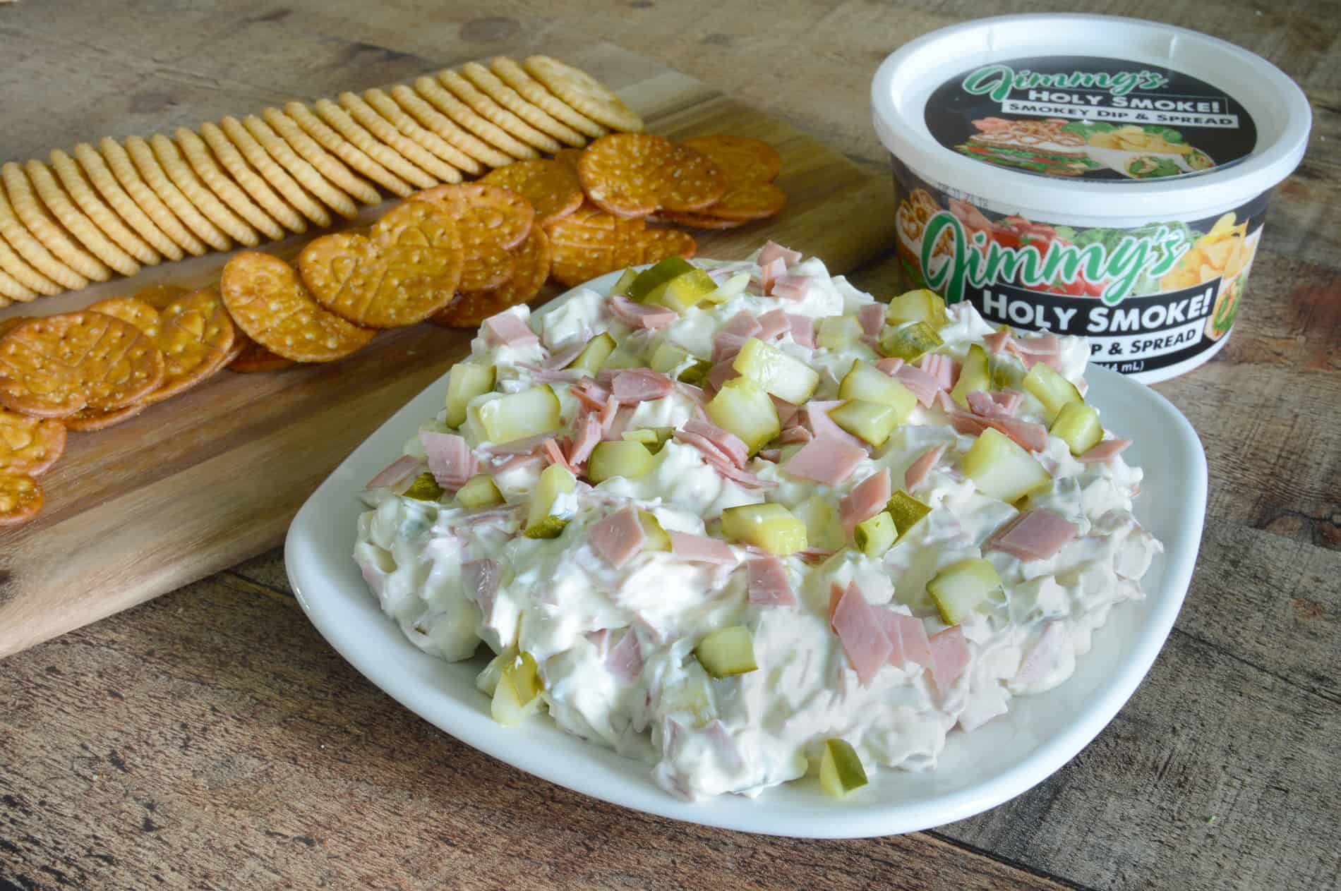 pickle wrap dip with a smokey twist. Pair with crackers for the perfect snack