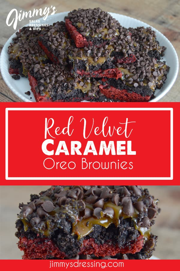 Red Velvet, Oreo, Caramel Brownies