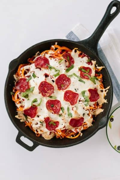 Spiralized Holy Smoke potato Pizza